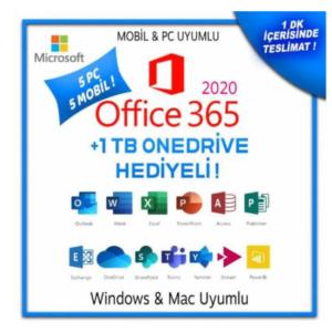 Office 365 5 PC windows- Mac - Dijital Portal Hesabı Anlık Teslimat